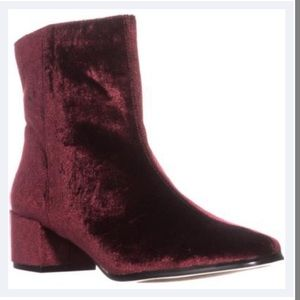 Chinese Laundry Red Velvet booties